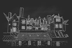 Straßenbild in der alten europäischen Stadt vektor abbildung