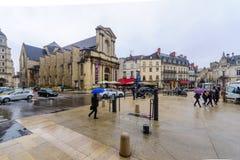 Straßenbild in Dijon Stockfotografie