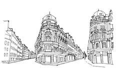 Straßenbild in Frankreich vektor abbildung