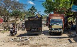 Straßenbild Kuta Lombok stockbilder