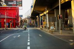 Straßenbild in Newtown Johannesburg City Stockbild