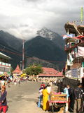Straßenbild in Rekongpeo-Stadt lizenzfreie stockfotos