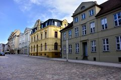 Straßenbild in Schwerin Deutschland Lizenzfreie Stockfotos
