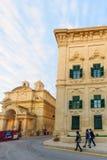 Straßenbild in Valletta Stockbild