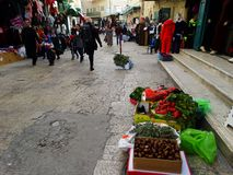 Straßenbild von Bethlehem, Palästina Israel lizenzfreies stockfoto