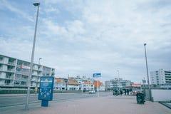 Straßenbild in Zandvoort, Holland lizenzfreies stockfoto