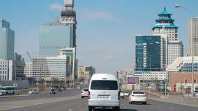 Straßenbrücke in Astana stock video footage