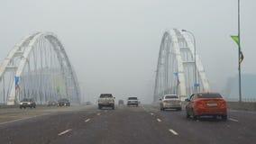 Straßenbrücke in Astana stock video