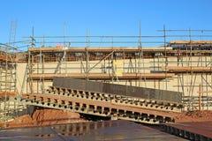 Straßenbrücke im Bau Stockfotos