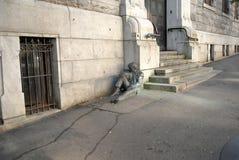 Straßenbronzeskulptur Lizenzfreies Stockbild