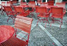 Straßencafé Stockbild
