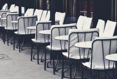 Straßencafé in Paris Stockfotografie