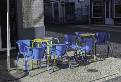 Straßencafé in Portugal Lizenzfreie Stockfotografie
