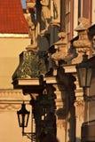 Straßendekorationsdetails Prag, Tschechische Republik lizenzfreie stockfotos