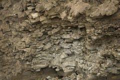 Straßeneinstürze Schicht Boden unter Abschnitt lizenzfreies stockfoto
