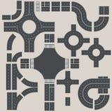 Straßenelementerbauer Stellen Sie Ihre eigene Straßenkarte her Stockfotografie