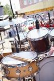 Straßenfest. Musikalische Ausrüstung auf Stadium. stockbilder