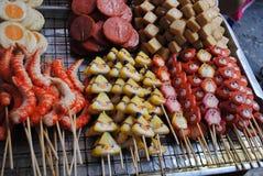 Straßenfleisch Thailand Stockfotos