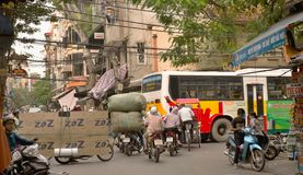 Straßenfoto von den Straßen von Hanoii, Stockfoto