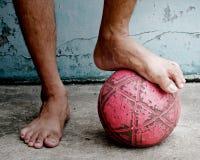 Straßenfußball. Lizenzfreie Stockbilder