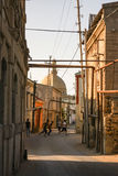 Straßenfußball in Aserbaidschan Stockfotos