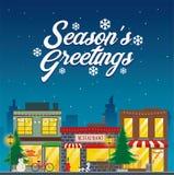 Straßengeschäft auf Weihnachtsjahreszeit lizenzfreie stockfotografie