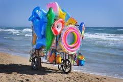 Straßenhändler auf dem Strand Lizenzfreie Stockfotografie