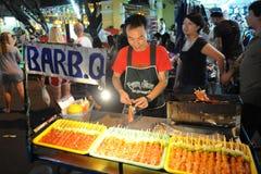 Straßenhändler in Bangkok Stockbild