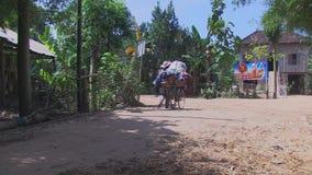 Straßenhändler, Fahrrad, Kambodscha, Südostasien stock video
