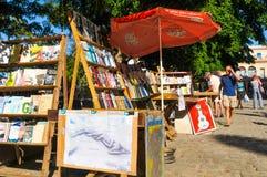 Straßenhändler in Havana Stockbild
