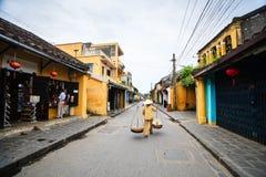 Straßenhändler in Hoi An Ancient Town, Quang Nam, Vietnam Lizenzfreies Stockfoto