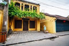 Straßenhändler in Hoi An Ancient Town, Quang Nam, Vietnam Stockfotografie