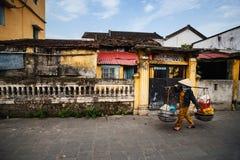 Straßenhändler in Hoi An Ancient Town, Quang Nam, Vietnam Lizenzfreie Stockbilder