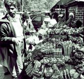 Straßenhändler Indien Lizenzfreies Stockbild