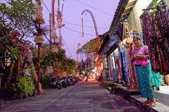 Straßenhändler, Ubud, Bali lizenzfreie stockfotografie