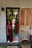 Straßenhändler, Ubud, Bali, Indonesien lizenzfreies stockbild