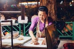 Straßenhändler während CNY-Feiertags Lizenzfreie Stockfotografie