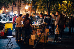 Straßenhändler während CNY-Feiertags Lizenzfreies Stockbild