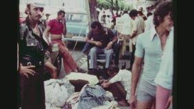 Straßenhandel in Rio stock footage