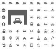 Straßenikone methode Verkehrsikone Gesetzte Ikonen des Transportes und der Logistik Gesetzte Ikonen des Transportes Lizenzfreie Stockfotos