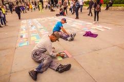 Straßenkünstler der Welt stockfotografie