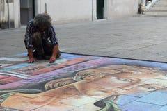 Straßenkünstler in Venedig Stockfotografie