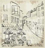 Straßenkaffee Stockfoto