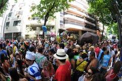 Straßenkarneval in Rio de Janeiro, Stockfotografie