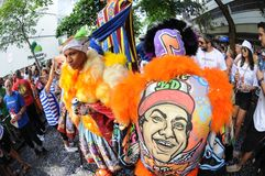 Straßenkarneval in Rio de Janeiro, Lizenzfreie Stockfotos