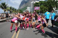 Straßenkarneval in Rio de Janeiro, Stockbild