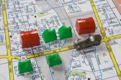 Straßenkarte Lizenzfreie Stockbilder