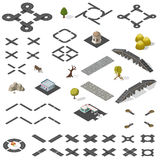 Straßenkarte-Ausrüstung isometrisch Stockbild
