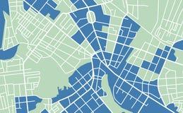 Straßenkarte der Stadt stock abbildung