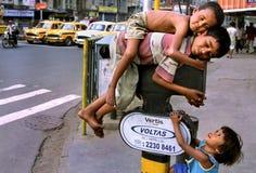 Straßenkinder Lizenzfreies Stockfoto
